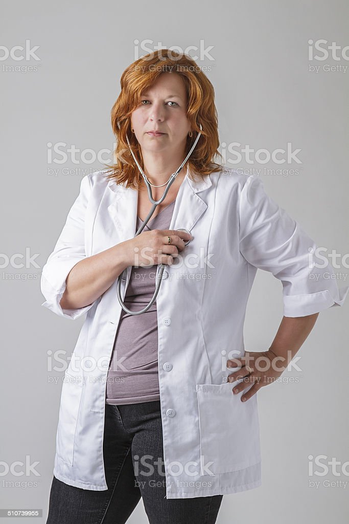 Listen to you heart stock photo