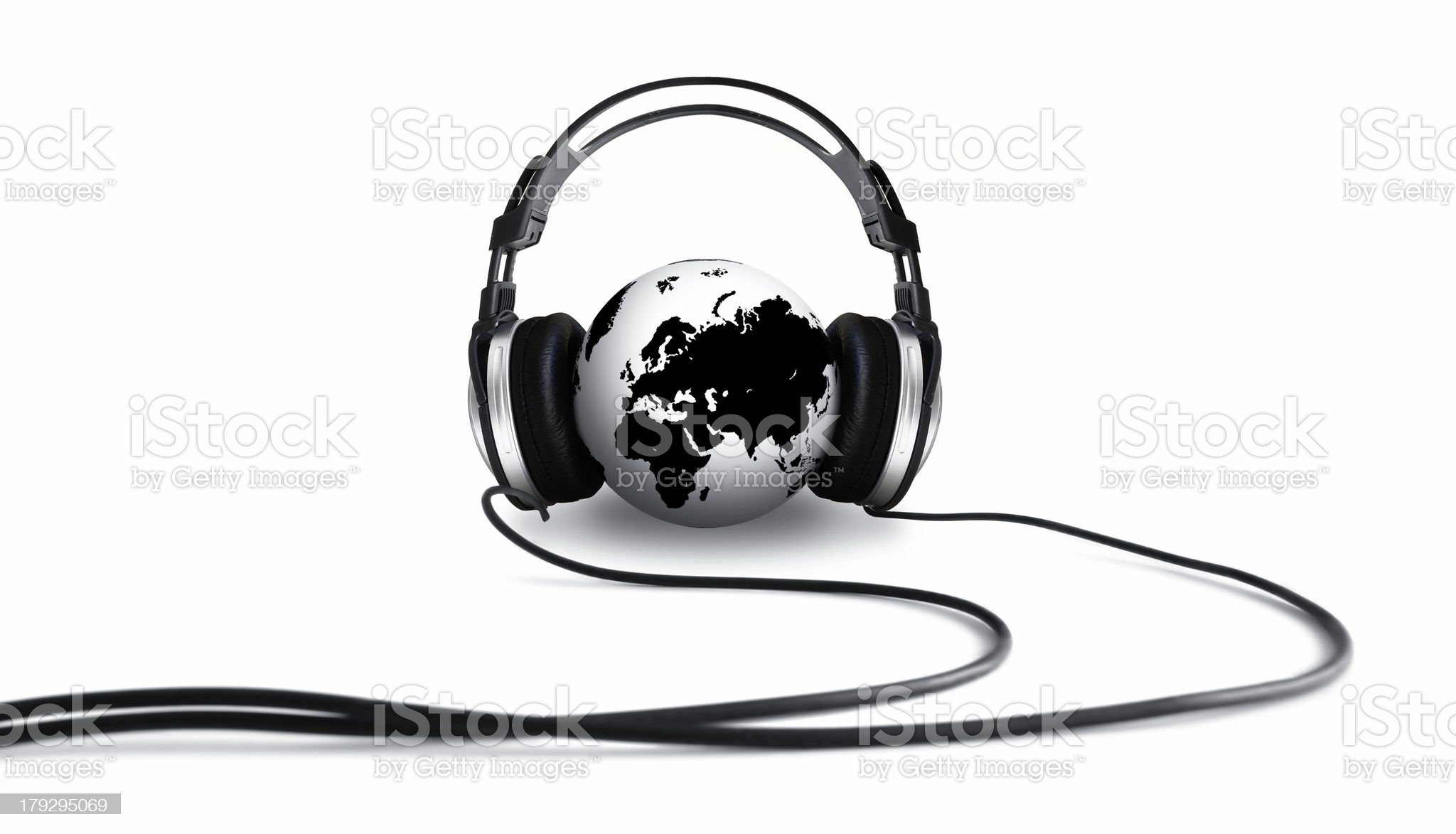 Listening Globe II royalty-free stock photo