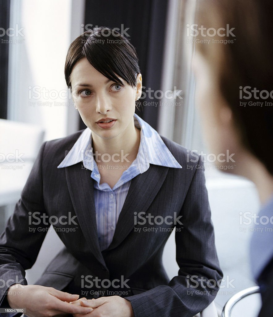 Listening in the meeting royalty-free stock photo
