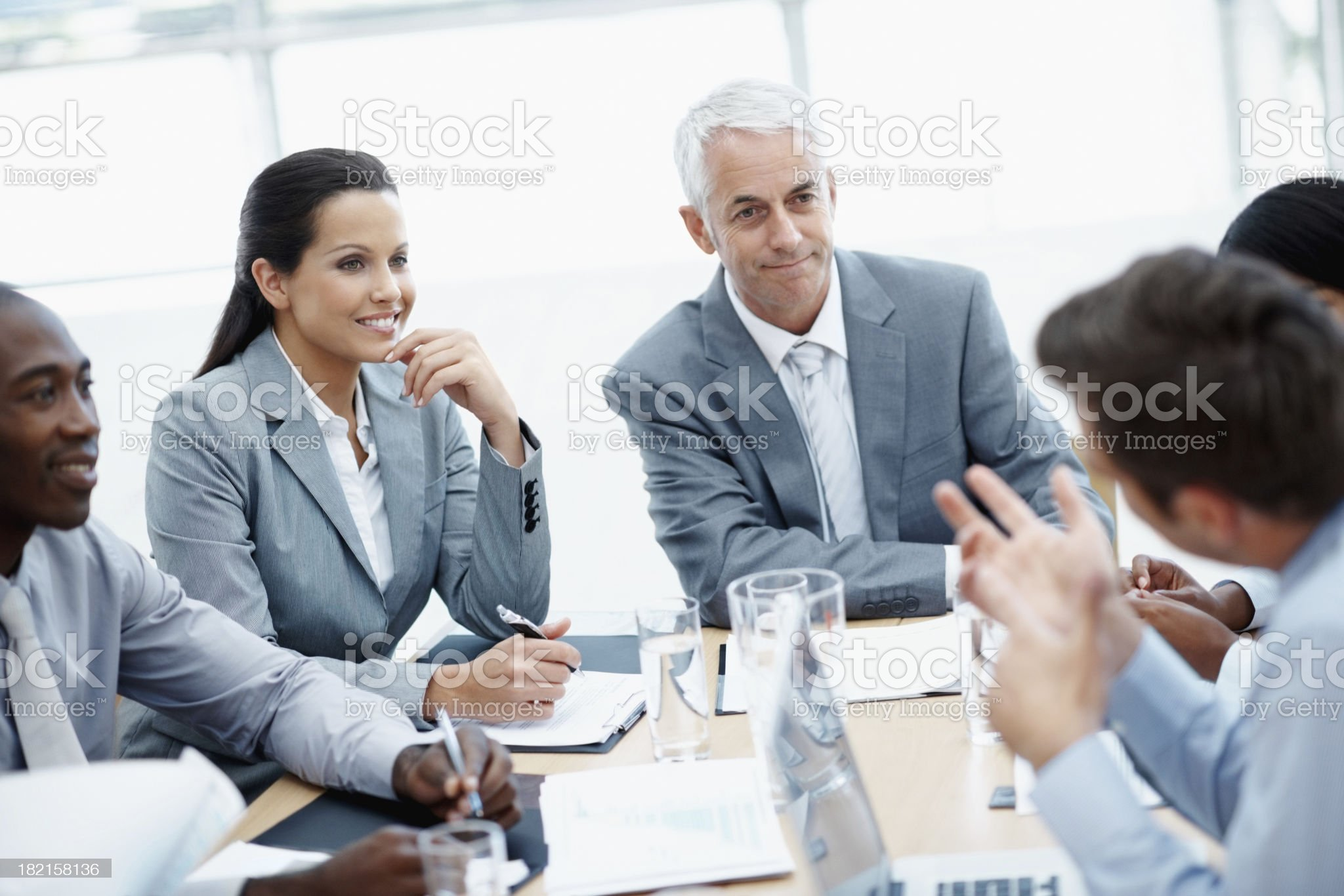 Listening is an important skill in business royalty-free stock photo