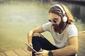 Listening music from tablet