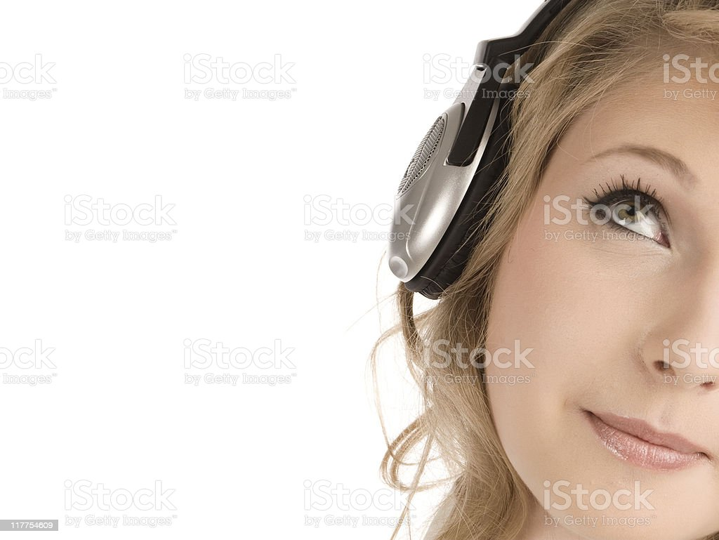 Listening music royalty-free stock photo