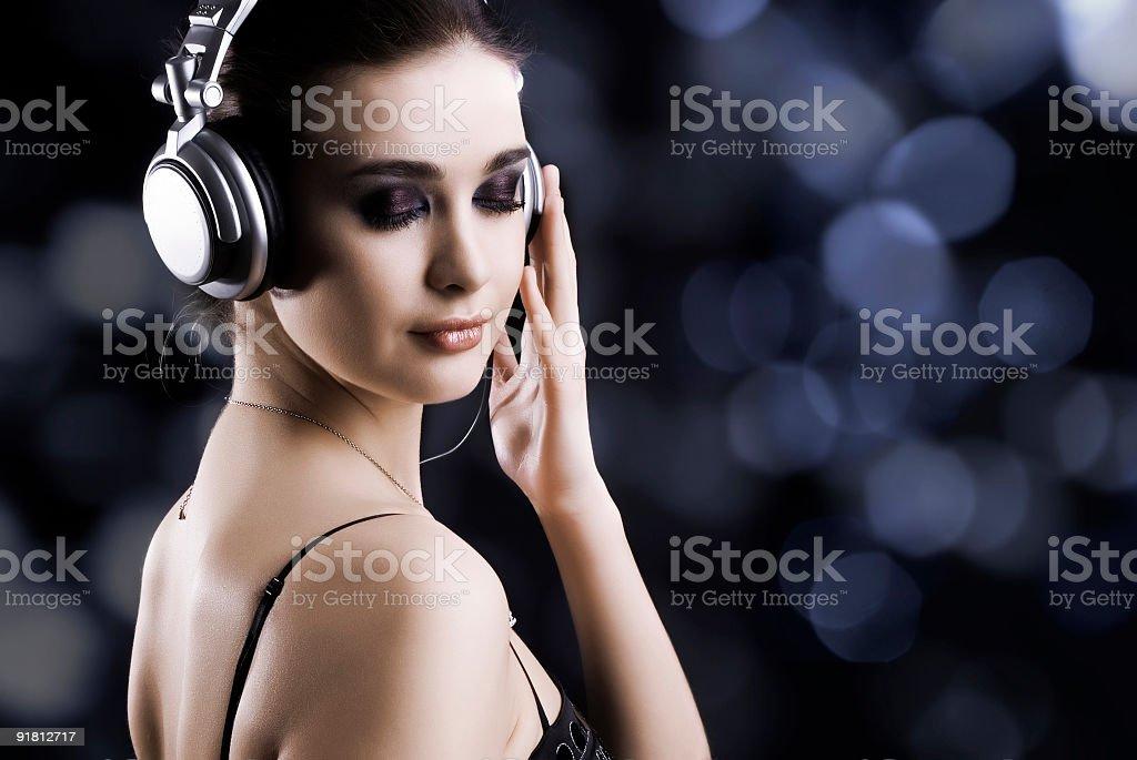 Listening music royalty-free stock photo
