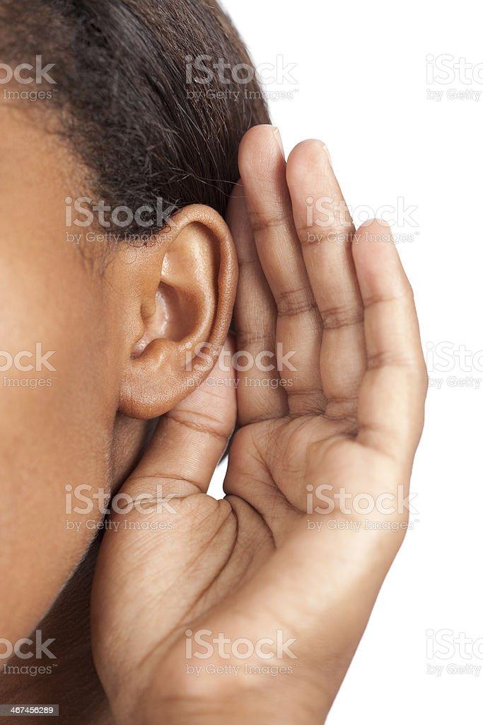 Listening. royalty-free stock photo