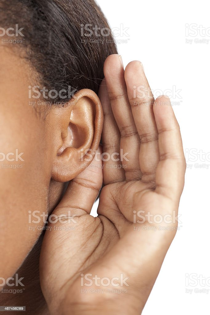 Listening. stock photo