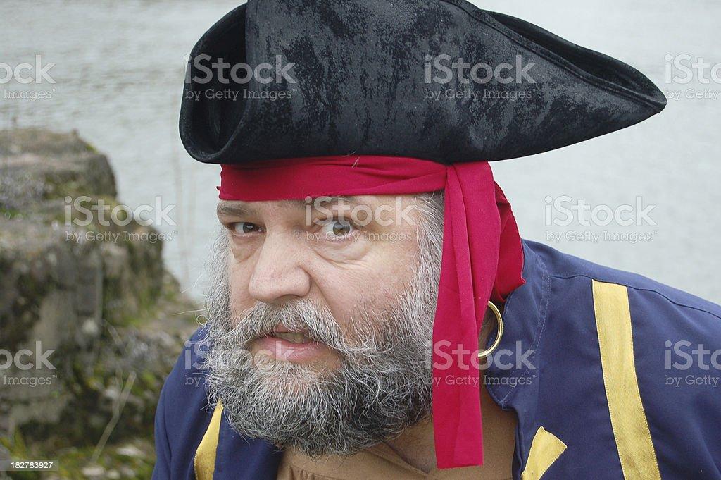 Listening Pirate stock photo