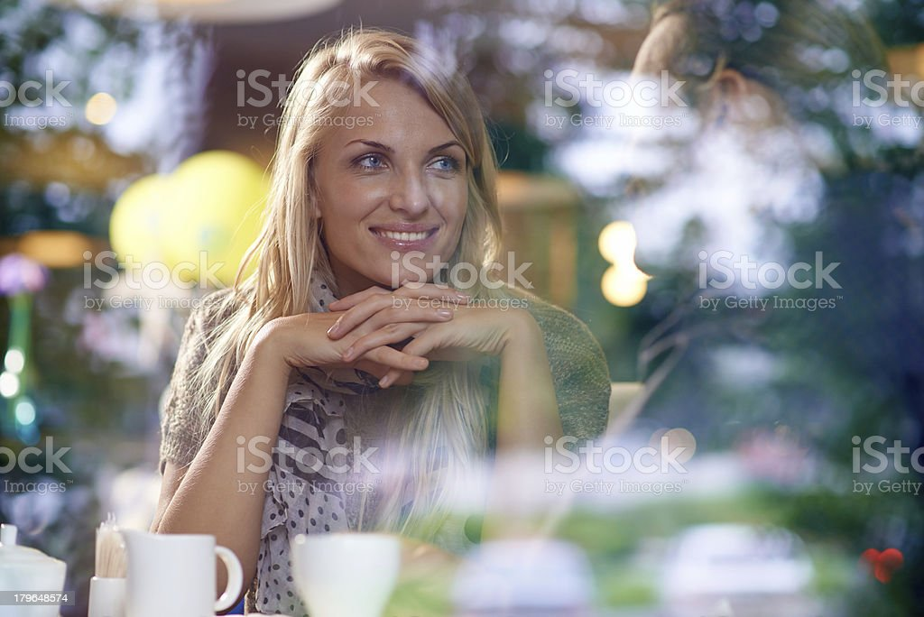 Listening to beloved royalty-free stock photo