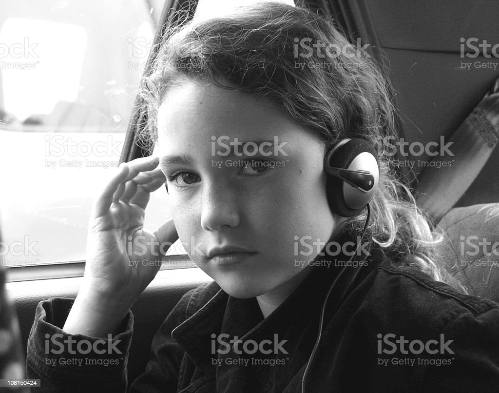 Listening to music in the car royalty-free stock photo
