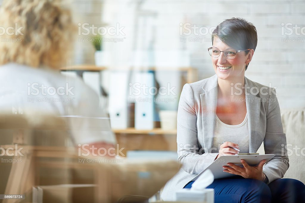 Listening to patient stock photo