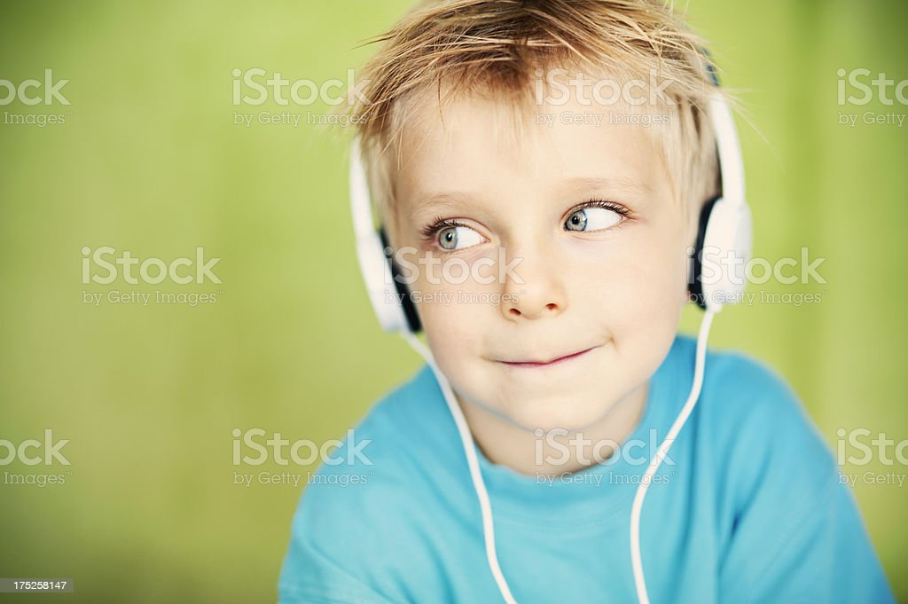 Listening to the music royalty-free stock photo