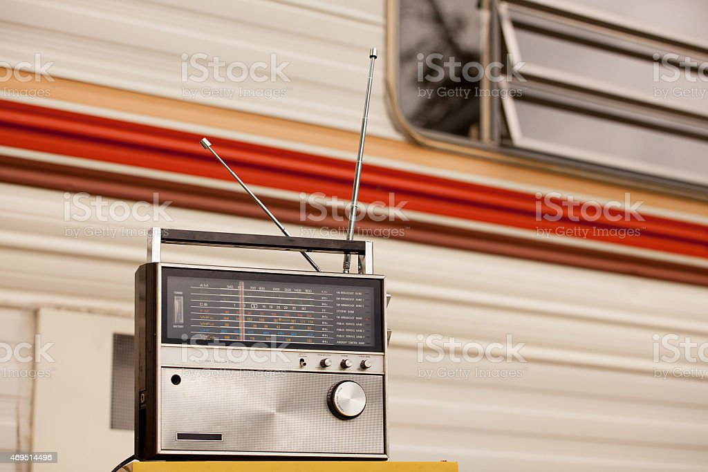 Listening to the Oldies royalty-free stock photo