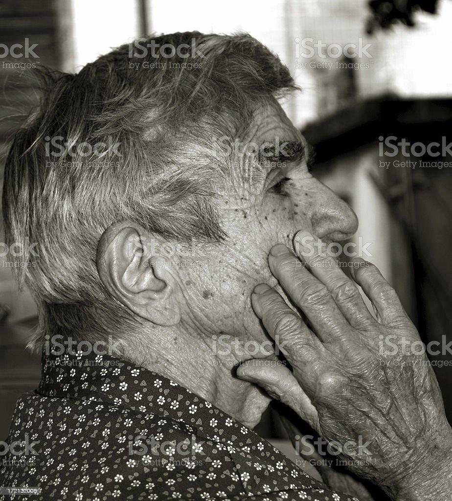 Listening Woman royalty-free stock photo
