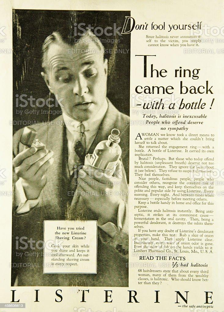 Listerine  Ad stock photo