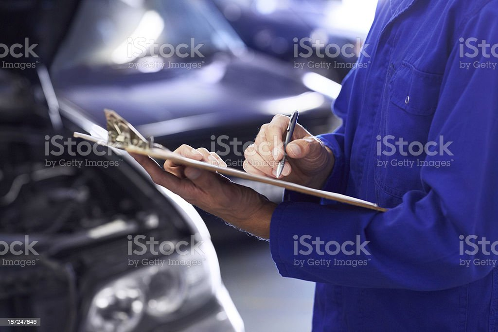 Listing his mechanical opinions royalty-free stock photo