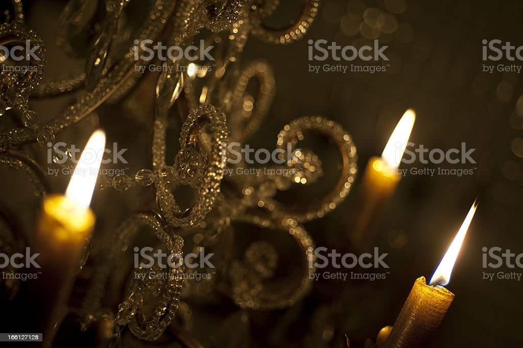 Lit Candles stock photo