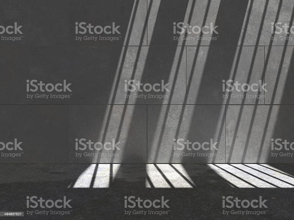 Lit Concrete Wall 05d2 stock photo