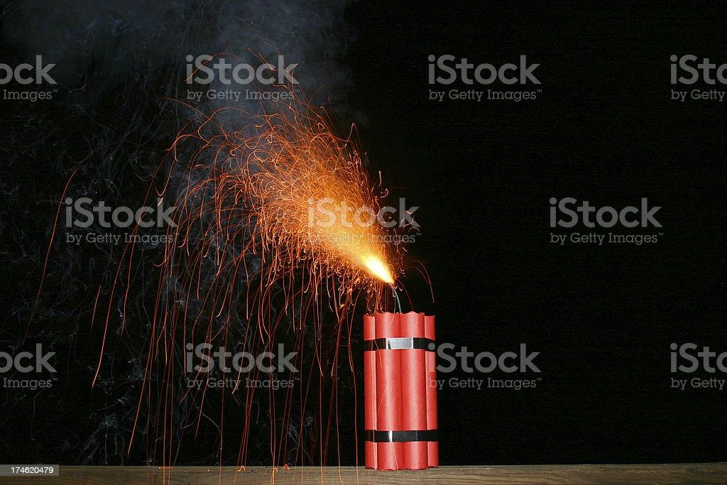 Lit Dynamite stock photo
