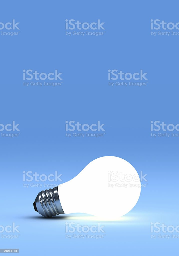 Lit light bulb royalty-free stock photo