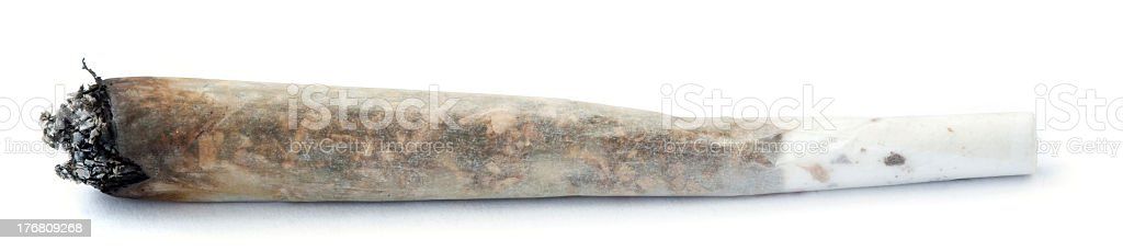 Lit reefer against white background royalty-free stock photo
