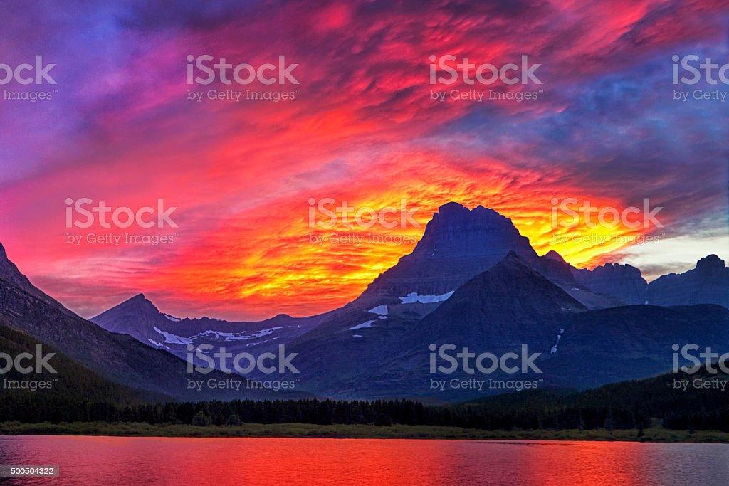 Lit Skies stock photo