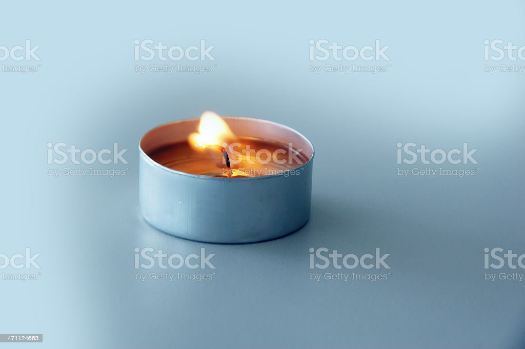 Lit tea light royalty-free stock photo