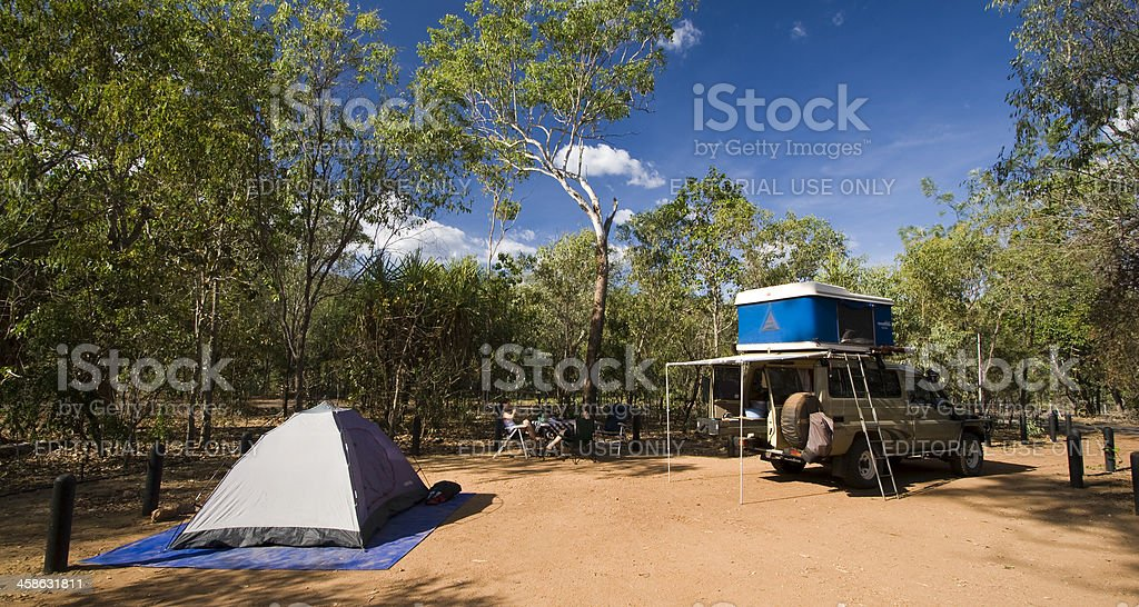 Litchfield National Park Camping royalty-free stock photo