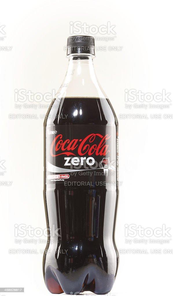 Liter soda bottle isolated on white background stock photo