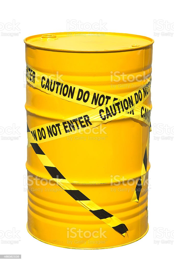 liter tank yellow barrier tape limits stock photo