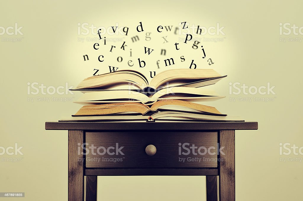literature or knowledge stock photo