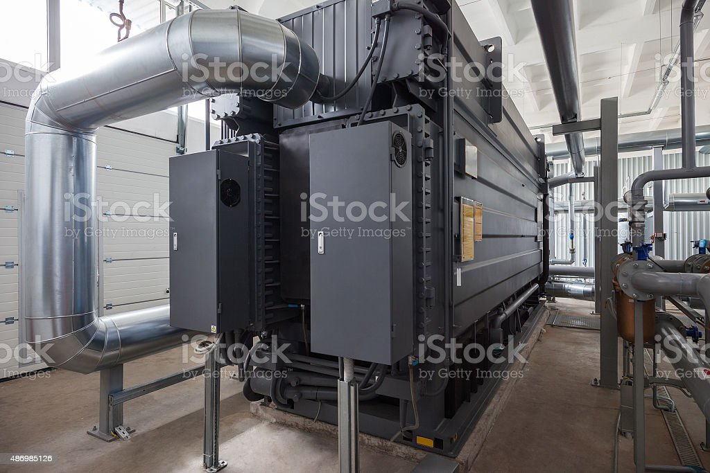 Lithium Bromide Absorption Heat Pump stock photo