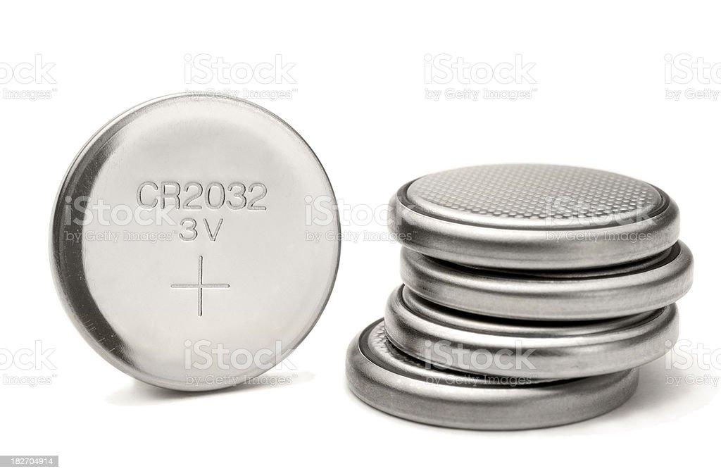 lithium button cell stock photo