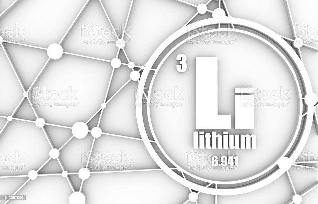 Lithium chemical element. stock photo