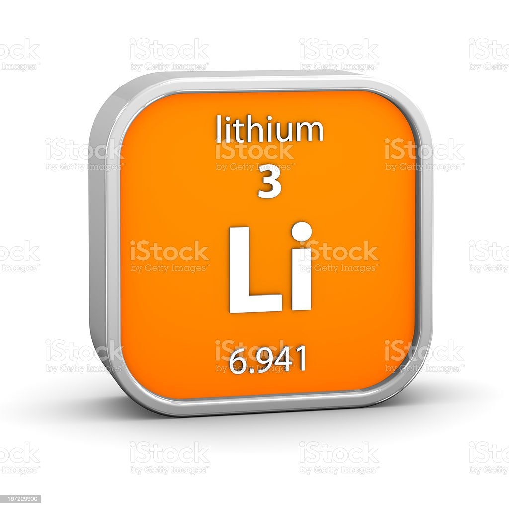 Lithium material sign stock photo