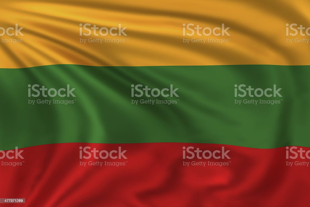 Lithuania Flag stock photo