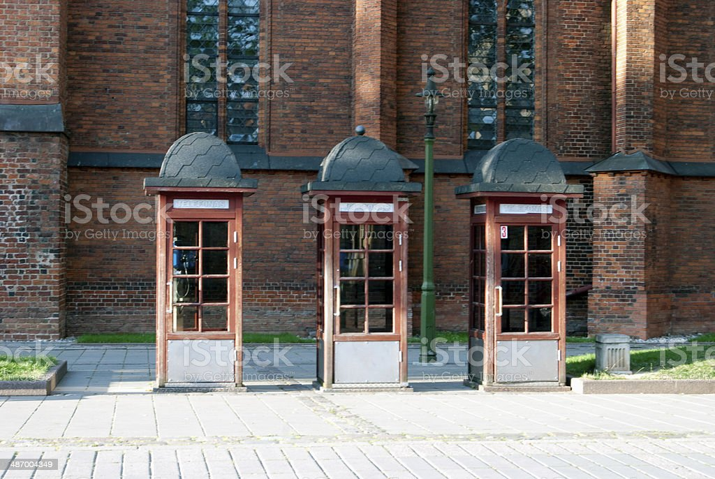 Lithuanian Telephone Boxes royalty-free stock photo