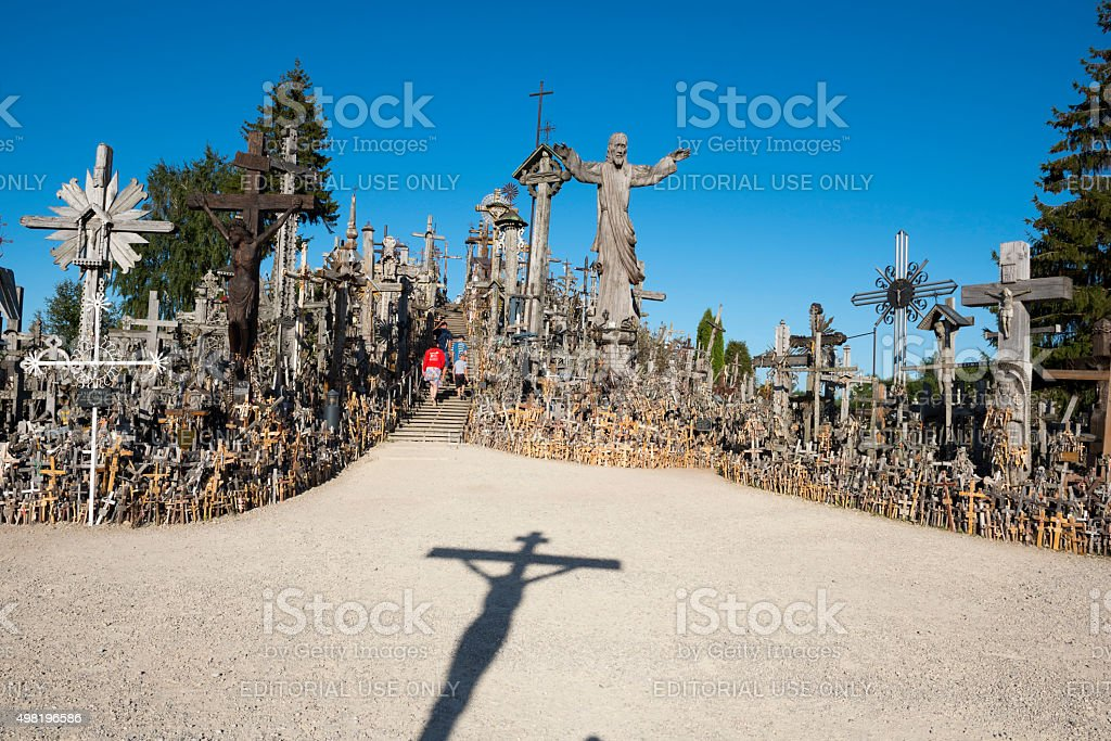 Lithuania's Hill of Crosses stock photo