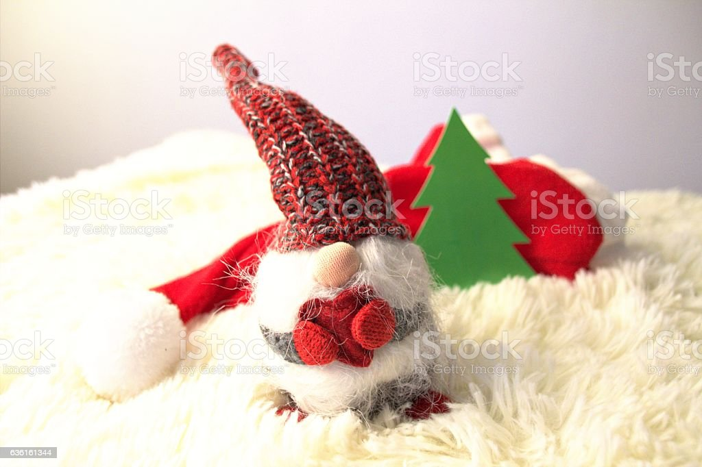 Litle santa christmas decoration stock photo