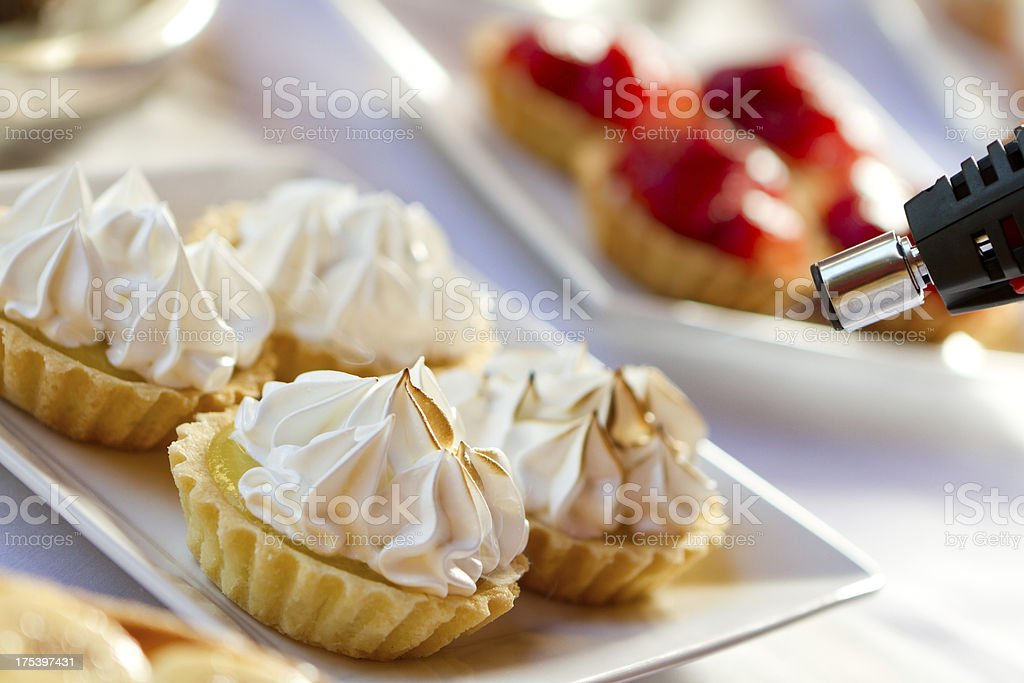 Litlle lemon pies stock photo