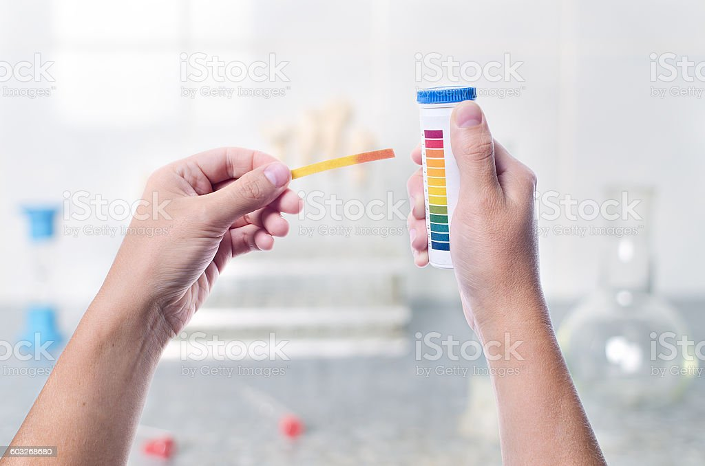 Litmus strips for measurement stock photo