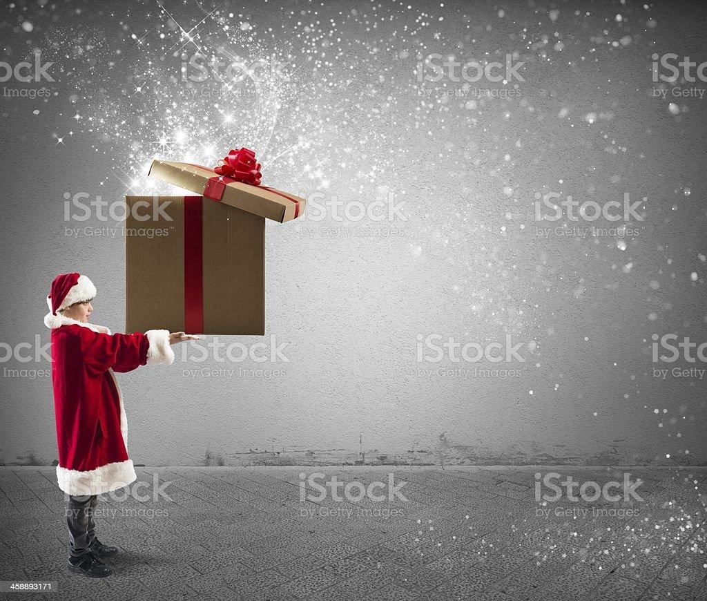Litte Santa Claus stock photo