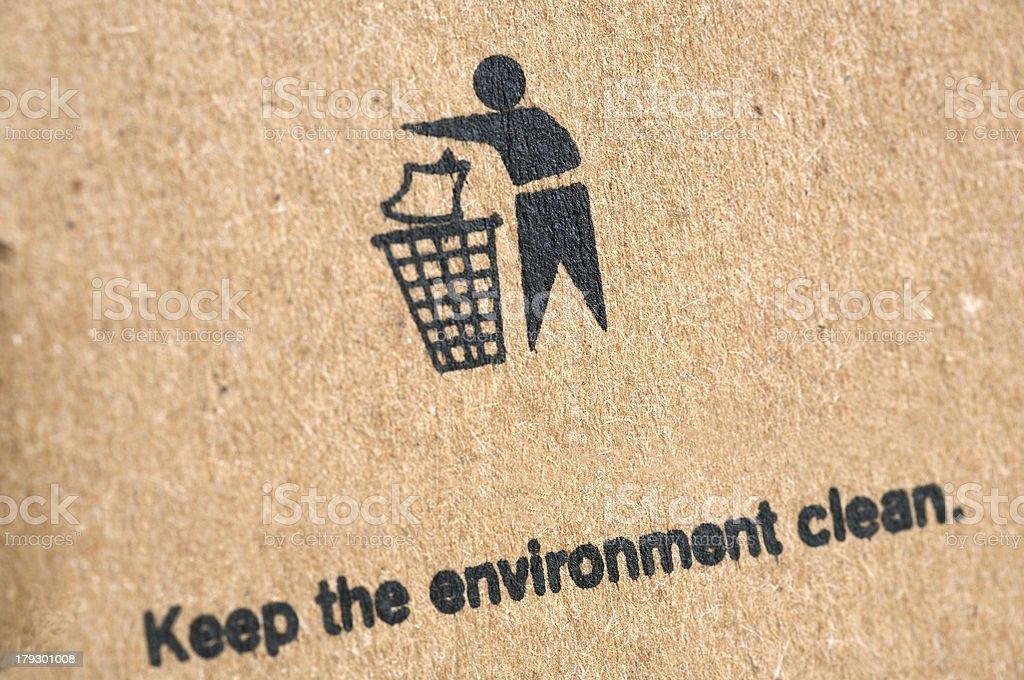 Litter bin on cardboard box royalty-free stock photo
