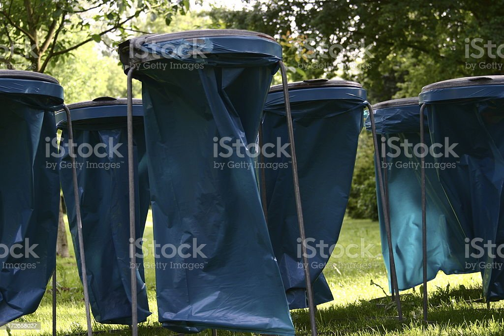 Litter-Boxes in the Park stock photo