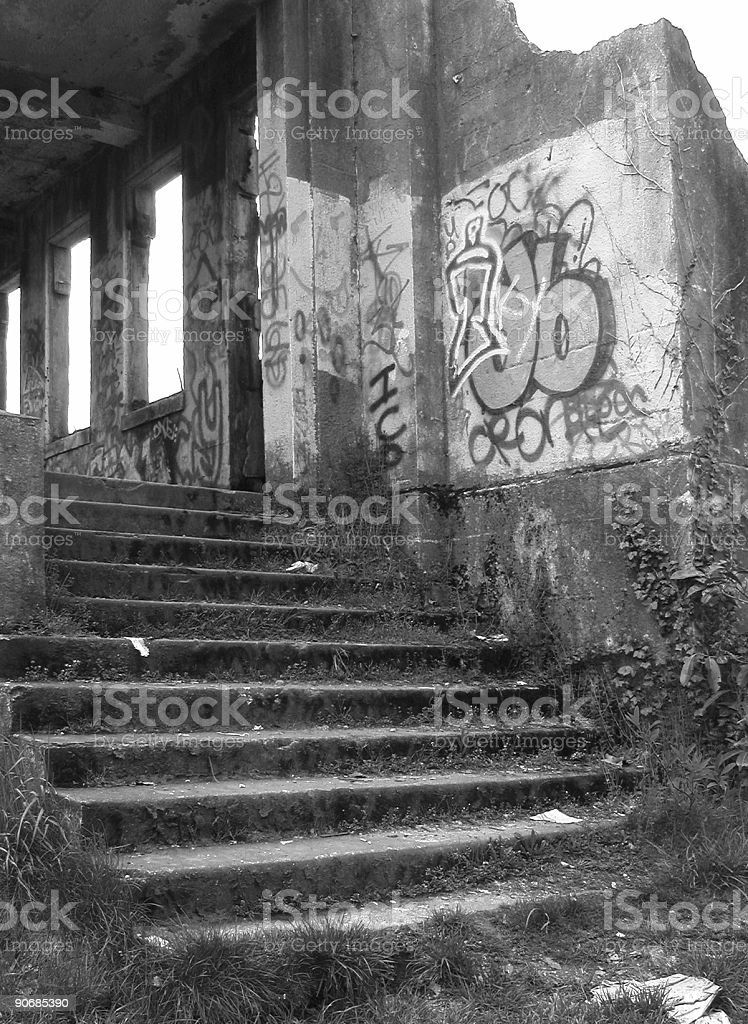 Littered Stairs royalty-free stock photo