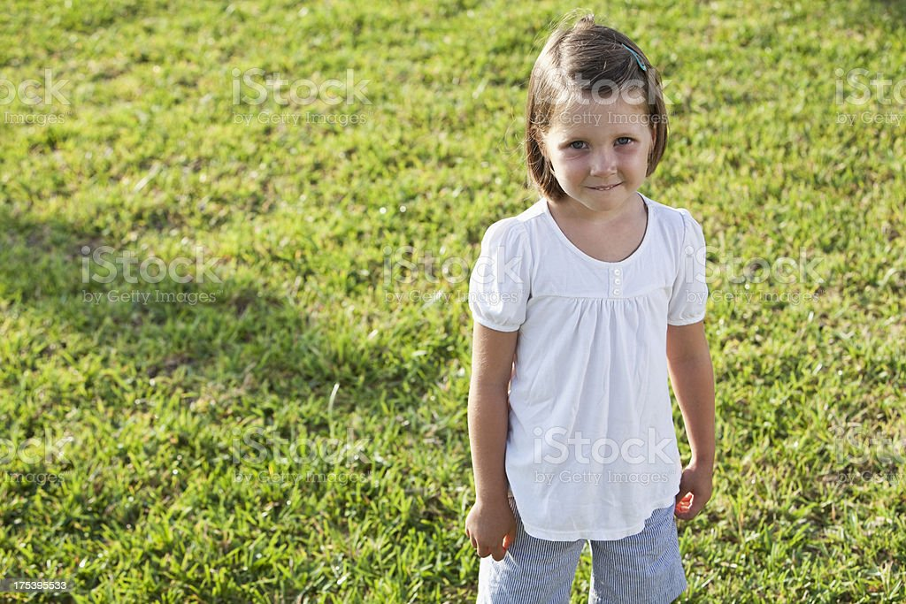 Little 4 year old girl stock photo