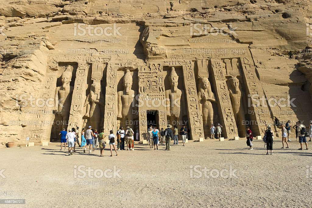 Little Abu Simbel stock photo