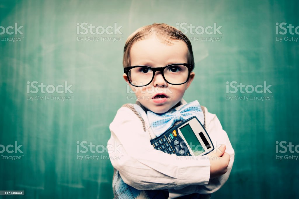 Little Accountant royalty-free stock photo