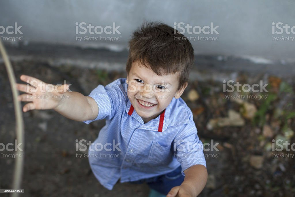 Little active bad kid royalty-free stock photo