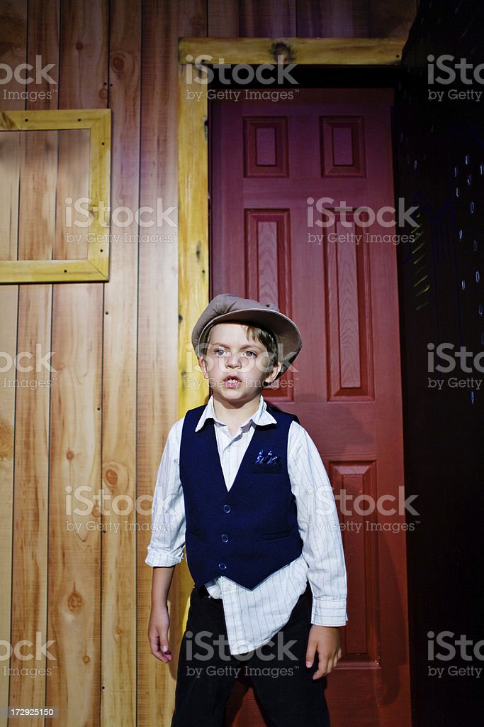 Little Actor In Play royalty-free stock photo