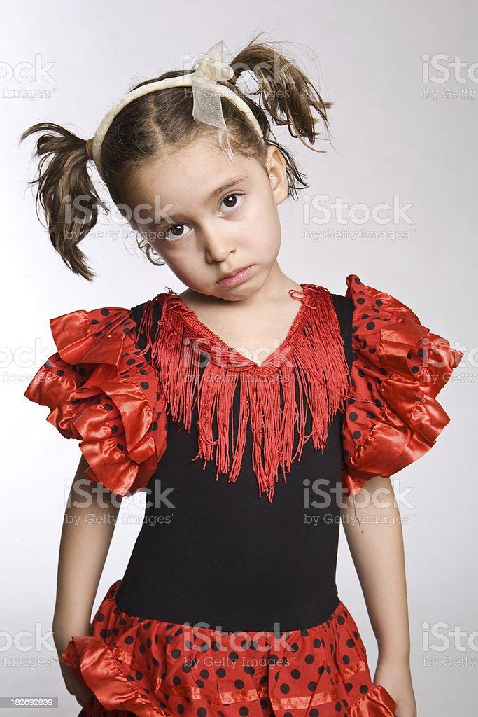 little actress: innocent stock photo