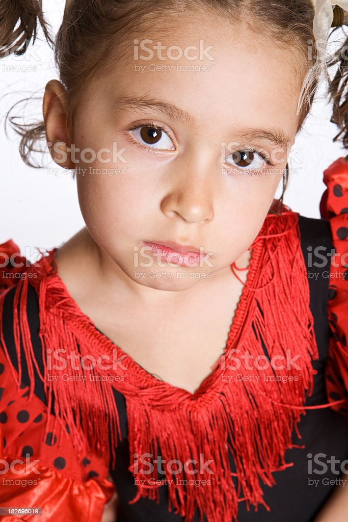 little actress: sad stock photo